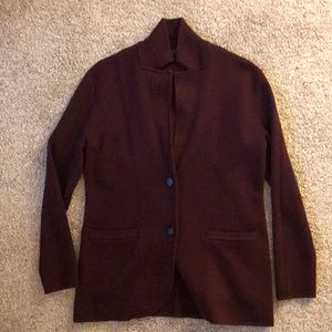 J Crew Merino Sweater Blazer Size Small